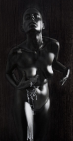 "Kle Mens Stępniewska Mimetic Black Madonna of Częstochowa, presented at the ""Blessed in Black"" exhibition, BWA Zielona Góra"